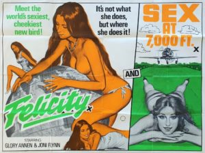 Felicity and Sex at 7,000 Ft UK Sexploitation Adult Quad Poster by Tom Chantrell (3)