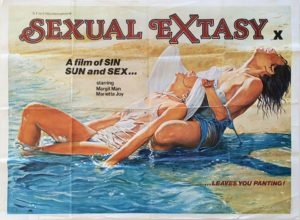 Sexual Extasy sexploitation UK Quad Poster