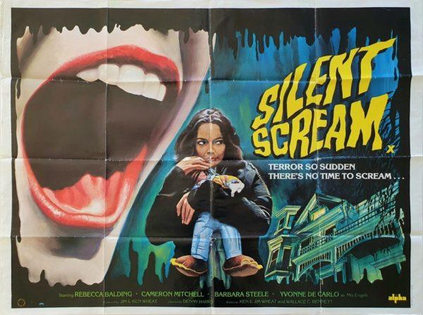 Silent Scream UK Quad Poster Tom Chantrell art (7)