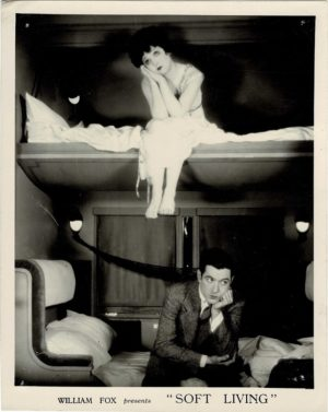 Soft Living 1928 US Still with Madge Bellamy and Johnny Mack Brown