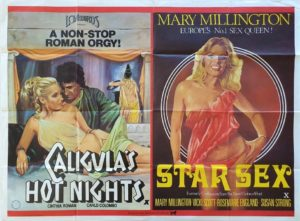 Star Sex and Caligula's Nights UK Sexploitation Adult Quad Poster with Mary Millington (3)