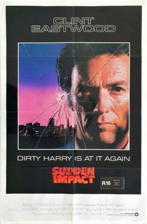 Sudden Impact Dirty Harry US One Sheet poster with Clint Eastwood