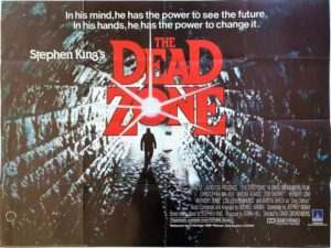 The Dead Zone UK Quad Poster 1983 by Stephen King