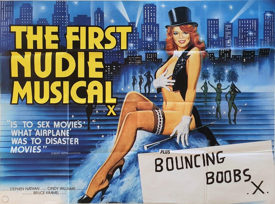 The First Nude Musical and Bouncing Boobs UK Sexploitation Adult Quad Poster by Tom Chantrell (4)