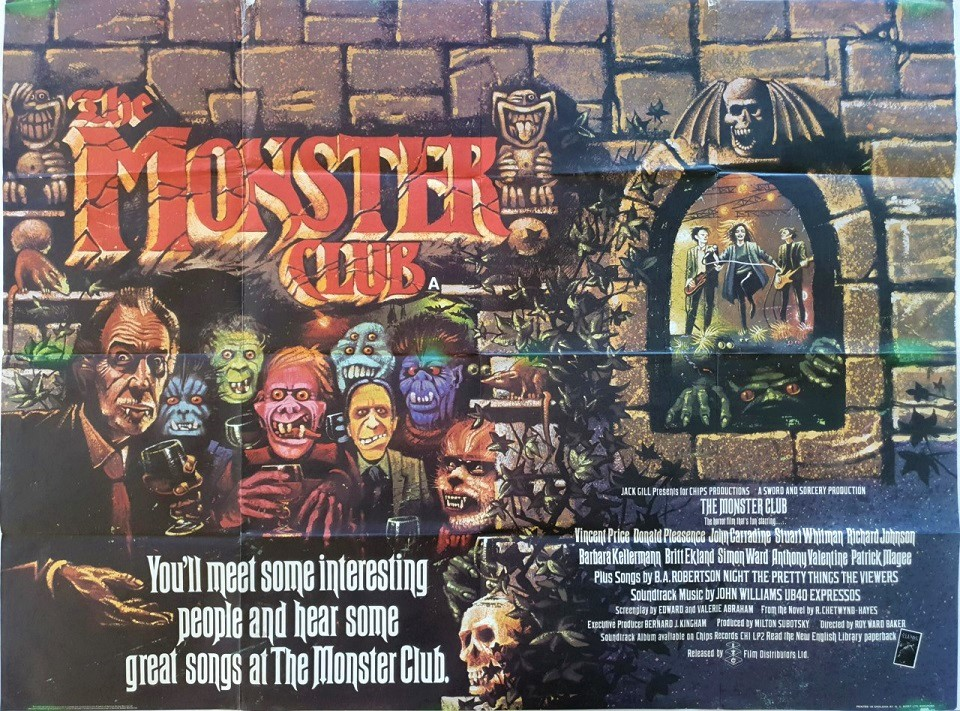 The Monster Club UK Quad Poster