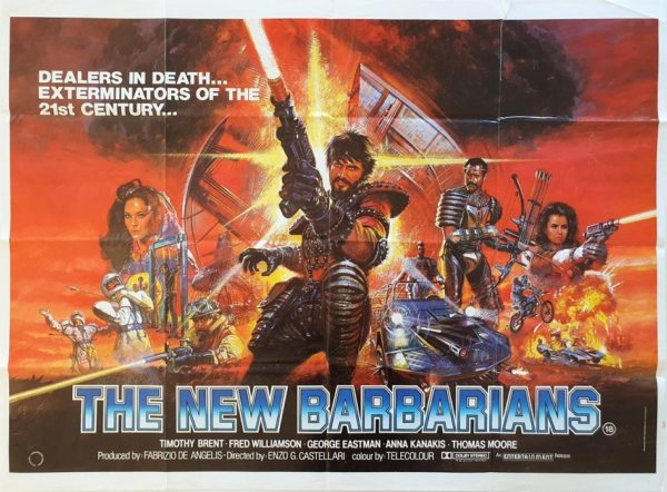 The New Barbarians UK Quad Poster I nuovi barbari