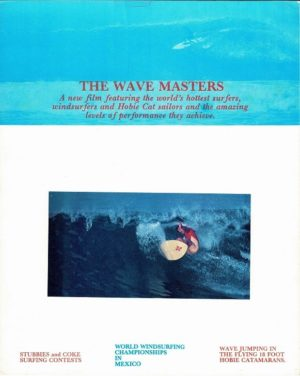 The Wave Masters Surfing film Window Card 1970's