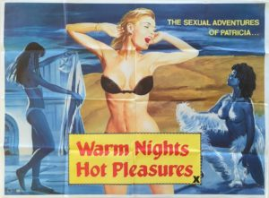 Warm Nights Hot Pleasures UK Sexploitation Adult Quad Poster by Tom Chantrell (4)