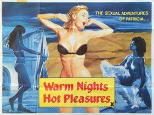 Warm Nights Hot Pleasures UK Sexploitation Adult Quad Poster with Tom Chantrell art (11)