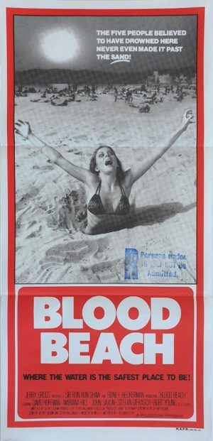 Blood Beach australian daybill poster