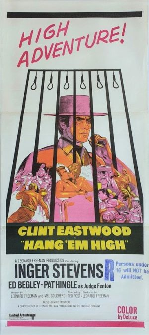 Hang Em High australian daybill poster with Clint Eastwood