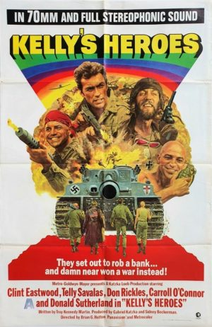 Kelly's Heroes US One Sheet Movie Poster with Clint Eastwood