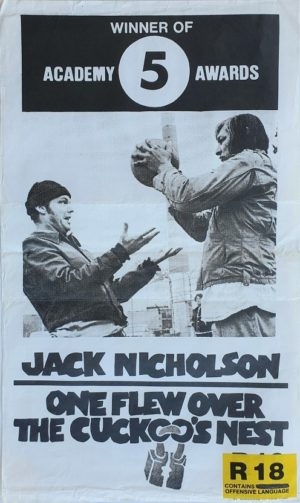 One Flew Over The Cuckoo's Nest NZ Daybill poster
