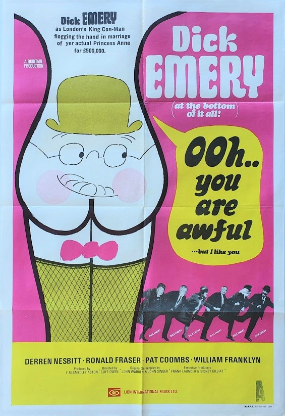 Ooh you are awful Dick Emery Australian One Sheet Poster (4)