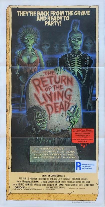 Return of the Living Dead australian daybill poster