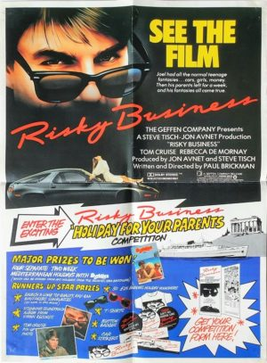 Risky Business UK Competition Poster with Tom Cruise