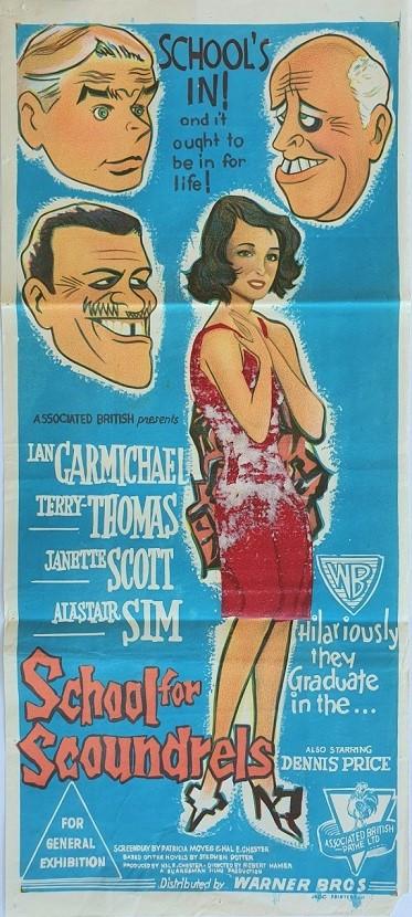 School for scoundrels australian daybill poster