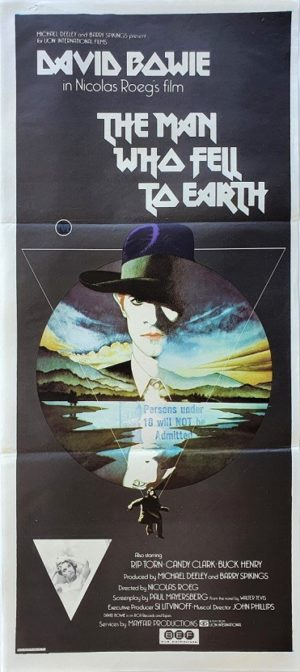 The Man Who Fell To Earth australian daybill poster with David Bowie