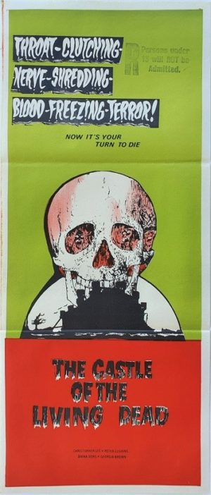 The castle of the living dead australian daybill poster