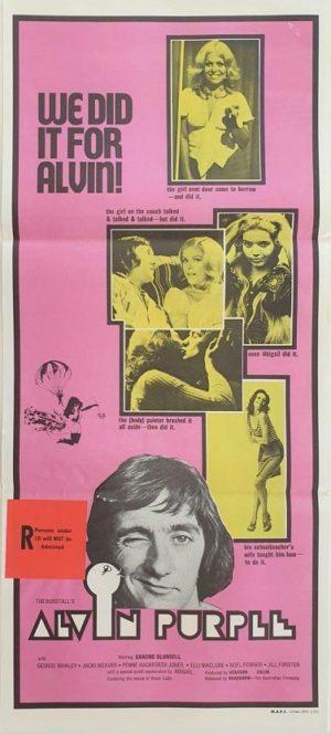 Alvin Purple Australian Daybill poster