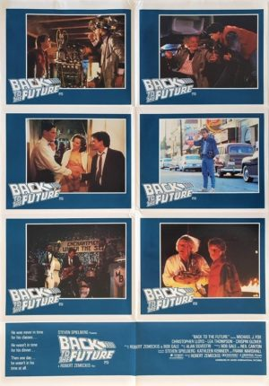 Back to the future Australian lobby card one sheet poster