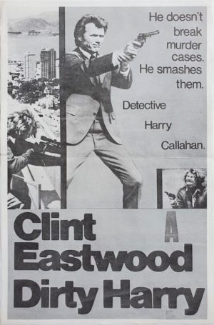 Dirty Harry NZ Daybill Poster with Clint Eastwood. (2)