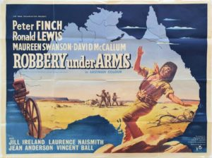 Robbery under arms UK quad poster Australian map style