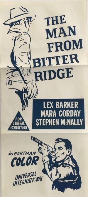 The Man from Bitter Ridge Australian Daybill Poster