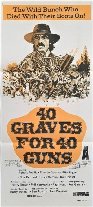 40 graves for 40 guns australian daybill poster
