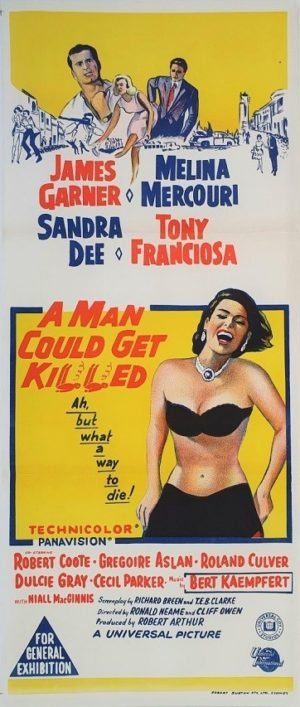 A man could get killed Australian daybill movie poster (4)