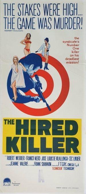 The Hired Killer Australian Daybill Poster