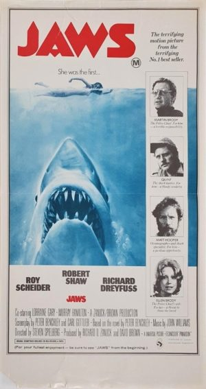 Jaws Australian Daybill Poster ultra rare portrait style (4)