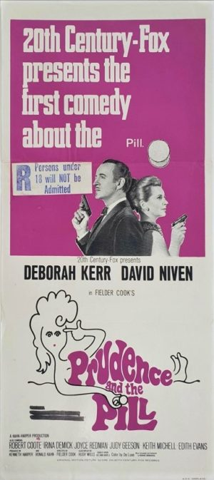 Prudence and the Pill Australian and New Zealand Daybill Poster with David Niven