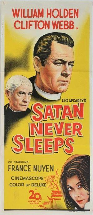 Satan Never Sleeps Australian Daybill Poster