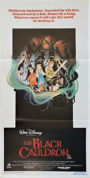 The Black Cauldron Australian daybill movie poster (4)