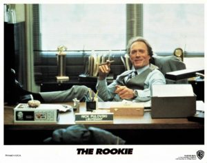 the rookie US lobby card set with Clint Eastwood and Charlie Sheen 1990