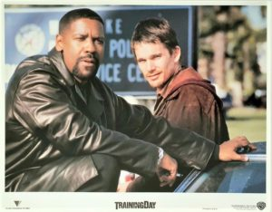 training day US lobby card set with Denzel Washington and Ethan Hawk 2001