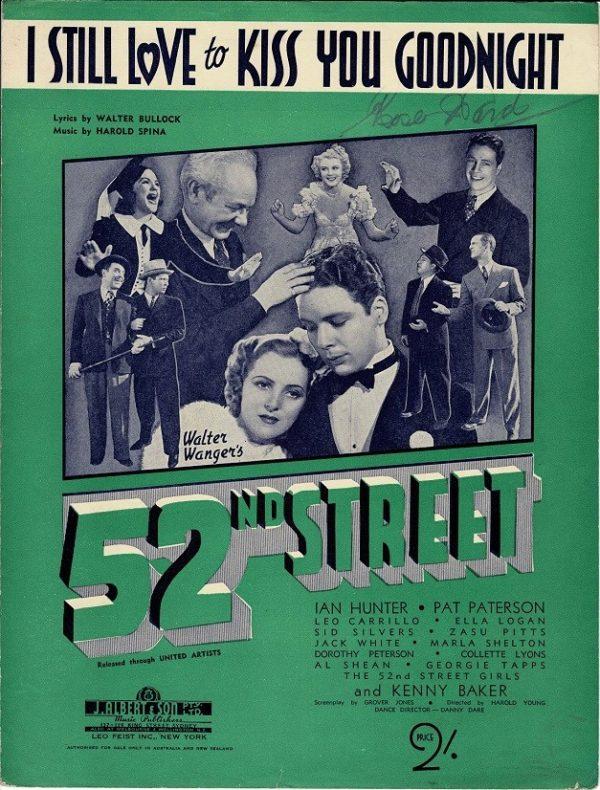 52nd street sheet music 1