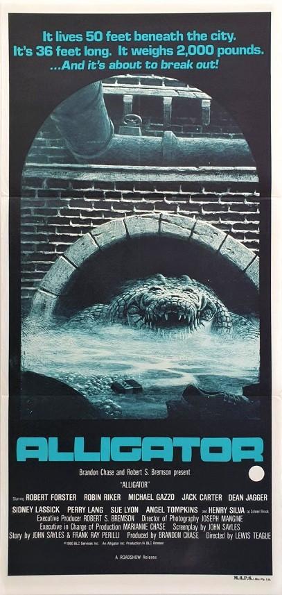Alligator Australian daybill movie poster (7)