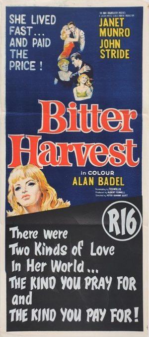 Bitter Harvest Australian Daybill Poster