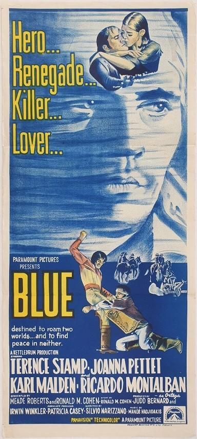 Blue Australian Daybill Poster