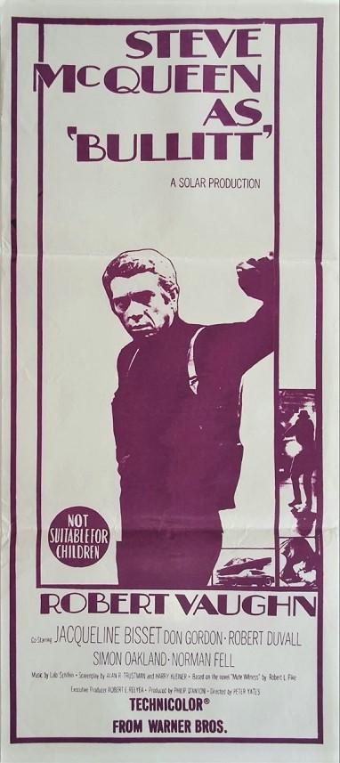 Bullitt Australian Daybill Poster with Steve McQueen