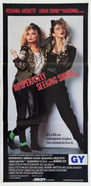 Desperately seeking Susan Australian Daybill Poster with Madonna (1)