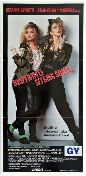 Desperately seeking Susan Australian Daybill Poster with Madonna (2)