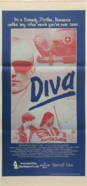 Diva Australian Daybill Poster 1981 Jean-Jacques Beineix