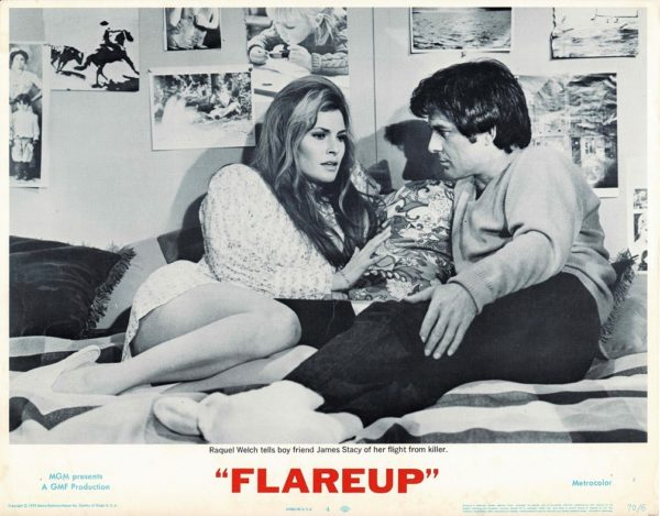 Flareup US Lobby Card with Raquel Welsh