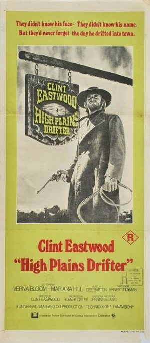 High Plains Drifter Australian Daybill Poster with Clint Eastwood (5)