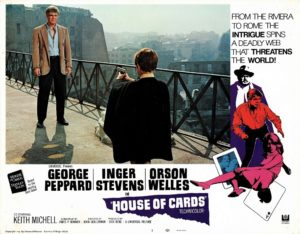 House of Cards US Lobby Card With George Peppard and Orson Welles (1)