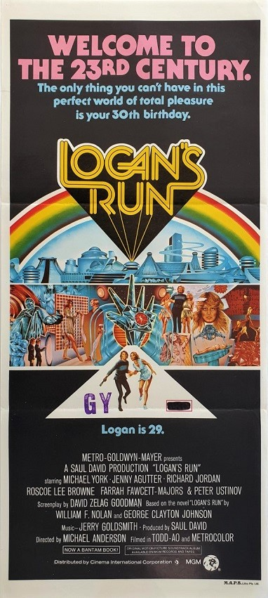 Logan's Run Australian daybill movie poster (5)
