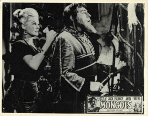 Mongols Lobby Card with Jack Palance